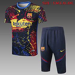 """Летний тренировочный костюм """"Барселона"""" 20-21 (бриджи и футболка)"""