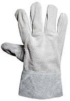 Перчатки замшевые пятипалые
