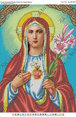 """Схема для вышивки бисером """"Непорочное сердце Марии"""""""