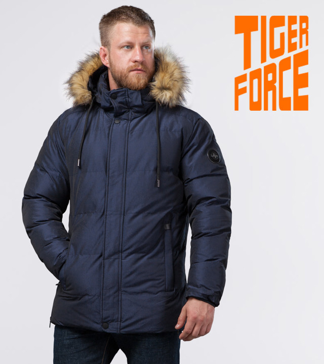 Tiger Force 71550   Мужская зимняя куртка темно-синяя