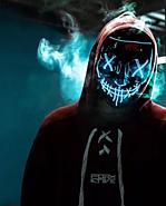 Неонова маска Purge Mask Фантом Судно ніч Синій (KG-2297), фото 3