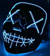 Неонова маска Purge Mask Фантом Судно ніч Синій (KG-2297), фото 4