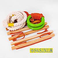 Детский верёвочный набор для шведской стенки набор подвесной гимнастический «ЭКОНОМ»