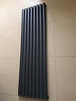 Вертикальные дизайнерские радиаторы отопления Terni || 4/1800 чёрный матовый