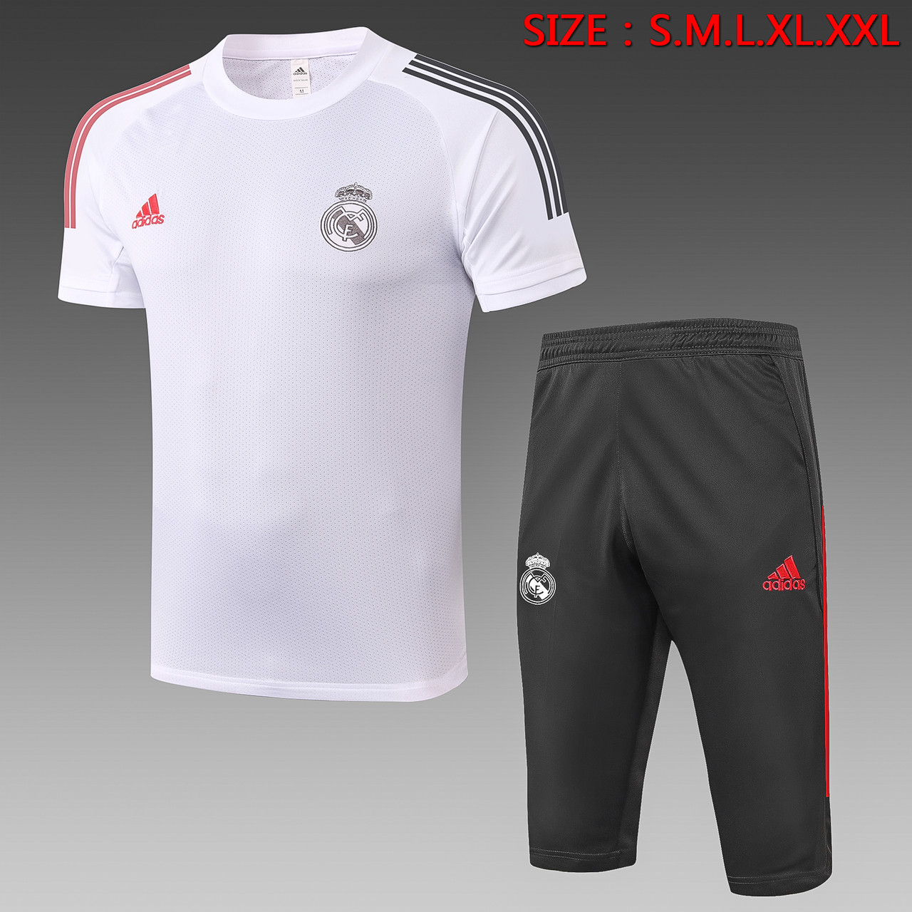 """Летний тренировочный костюм """"Реал Мадрид"""", 20-21 (бриджи и футболка)"""