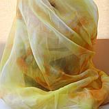 Желтый шарфик из вискозы, фото 2