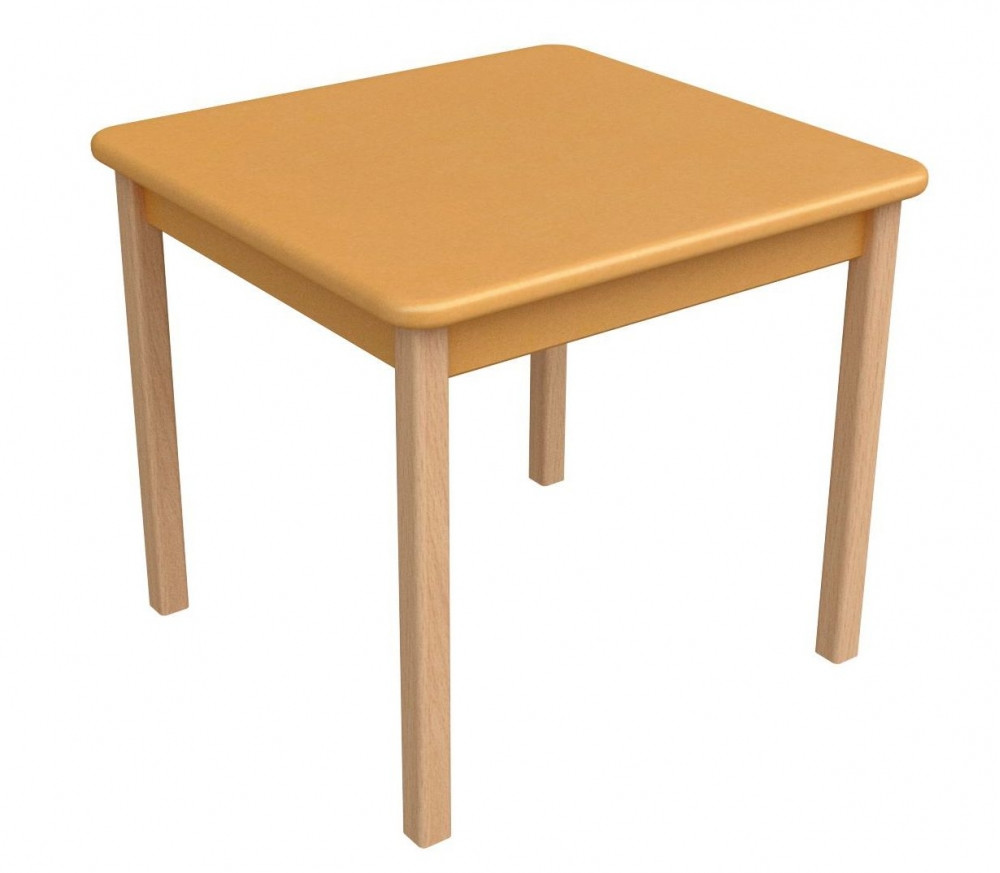 Детский столик Верес Дерево МДФ Оранжевый 54х57х57 см