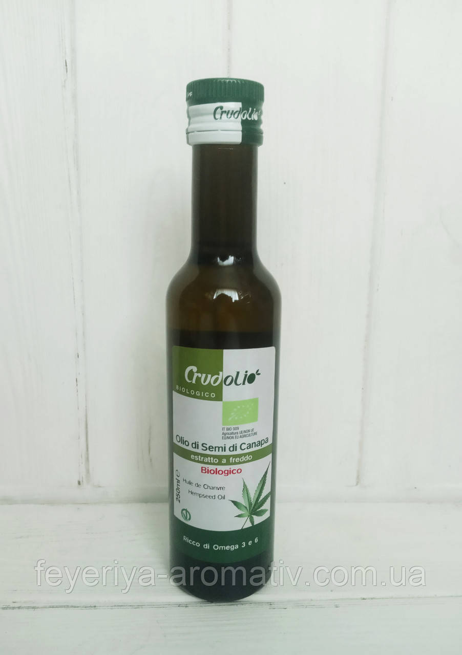 Конопляное масло Crudolio Olio di semi di Canapa 250гр (Италия)