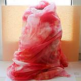 Розовый шарфик из вискозы, фото 2