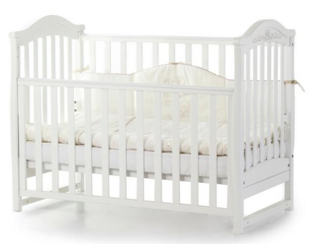 Детская кроватка ВЕРЕС Соня ЛД3 Белая без ящика ЕС новый функционал