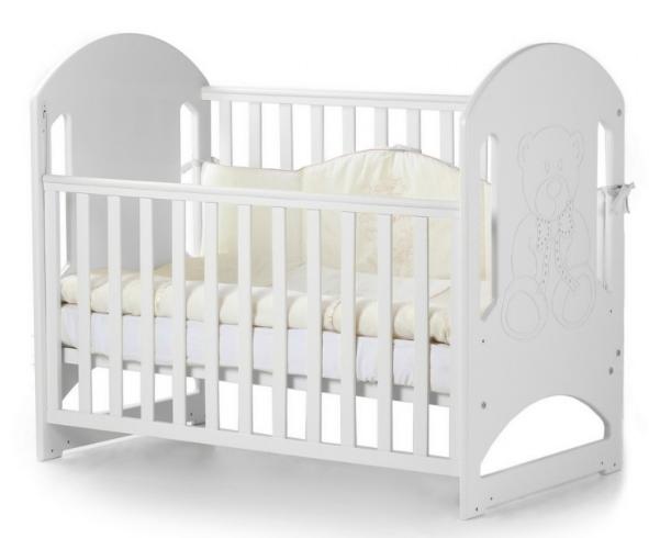 Детская кроватка Верес Соня ЛД-8 Белая без ящика