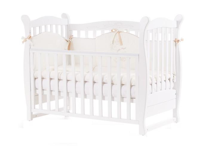 Детская кроватка ВЕРЕС Соня ЛД15 Белая без ящика ЕС Новый функционал