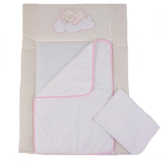 Пеленальный матрасик Верес Sleepyhead pink 50х70 см