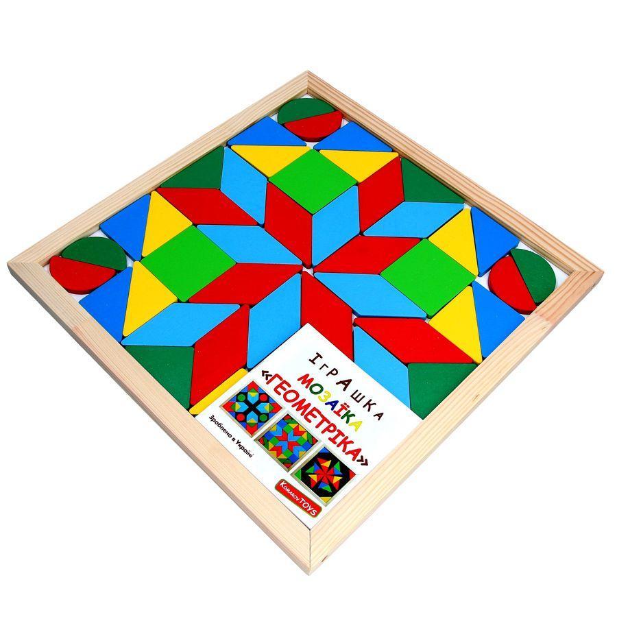 Мозаика-геометрика Komarovtoys 33х33 см А346