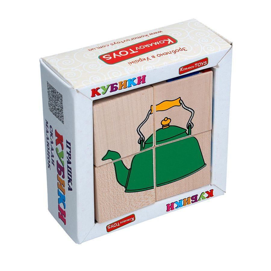 Кубики сложи рисунок посуда Komarovtoys Т605