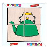 Кубики сложи рисунок посуда Komarovtoys Т605, фото 2