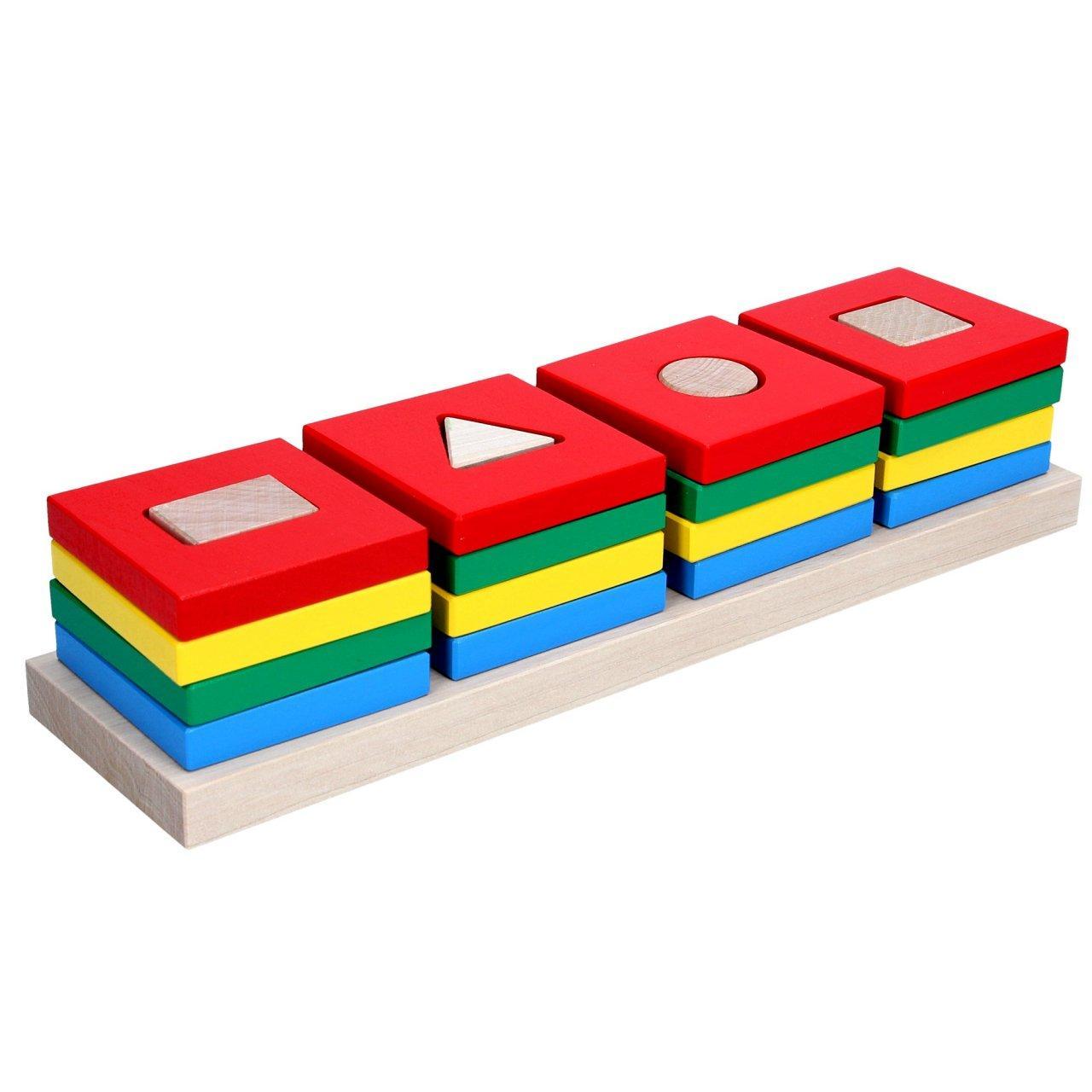 Пирамидки Цветной квартет Komarovtoys А344