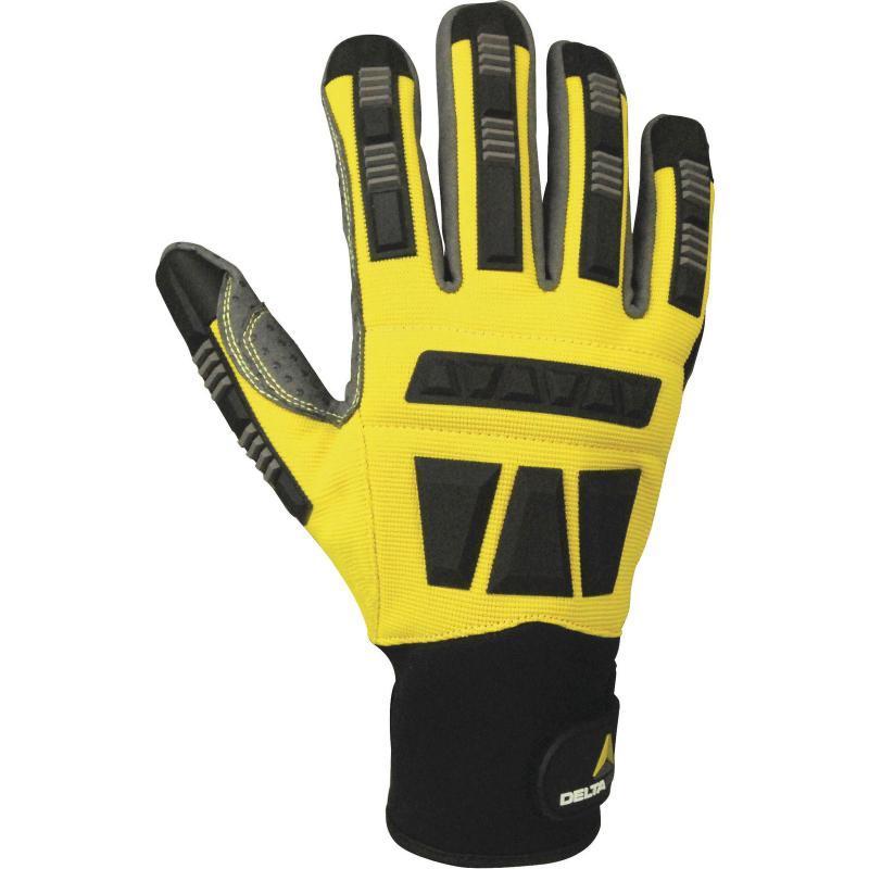 Защитные перчатки Delta Plus EOS VV900  Желтые с черным