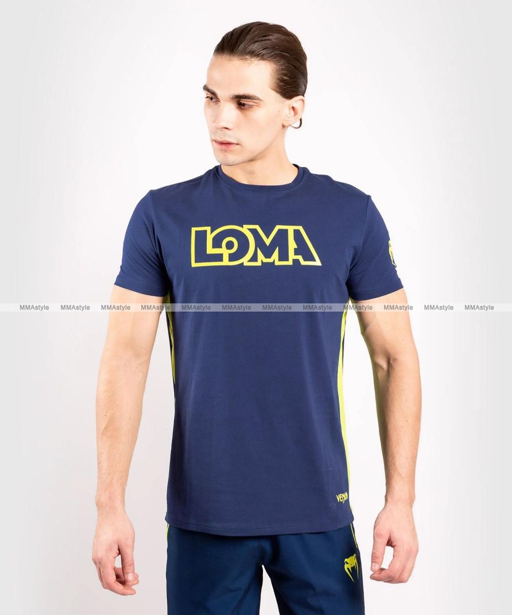 Футболка Venum Origins T-shirt Loma Edition Blue Yellow
