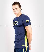 Футболка Venum Origins T-shirt Loma Edition Blue Yellow, фото 2