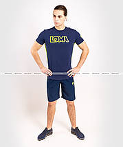 Футболка Venum Origins T-shirt Loma Edition Blue Yellow, фото 3