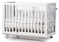 Детская кроватка Верес Соня ЛД1 Манхеттен с маятником Бело-Серая