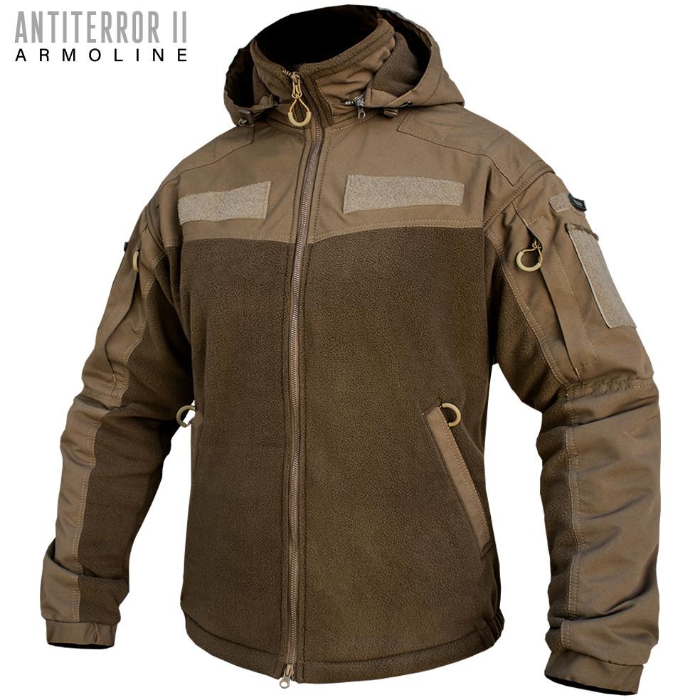 Толстовка куртку з капюшоном (ANTITERROR II) Coyote (ВІДЕО)