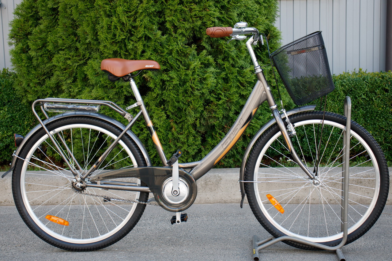 "Велосипед женский AIST JAZZ 1.0 ""26 CTB с корзиной"
