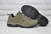 Мужские демисезонные кроссовки натуральный нубук BONA хаки, фото 1