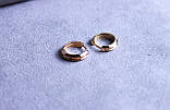 Сережки мінімалізм фірми Xuping(color 78), фото 4