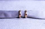 Сережки мінімалізм фірми Xuping(color 78), фото 5