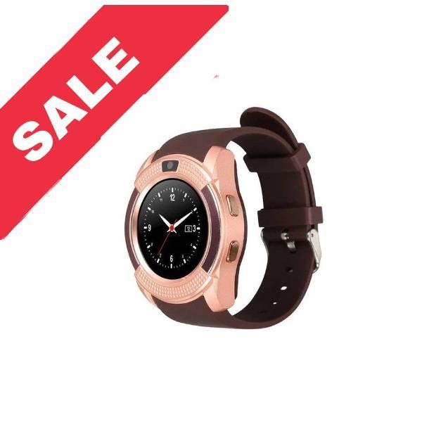 Розумний годинник телефон Smart Watch V8  золотий