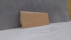 Плинтус МДФ для пола с текстурой под дерево Бук Бавария 19*52*2800мм., светло-коричневый