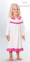 Ночная рубашка детская WIKTORIA W40 розовая