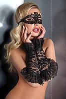 Изящные кружевные перчатки-рукава с атласными лентами модель 13 Livia Corsetti (Ливия Корсетти)