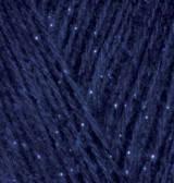 Пряжа для вязания Ангора голд СИМЛИ тёмно синий 58