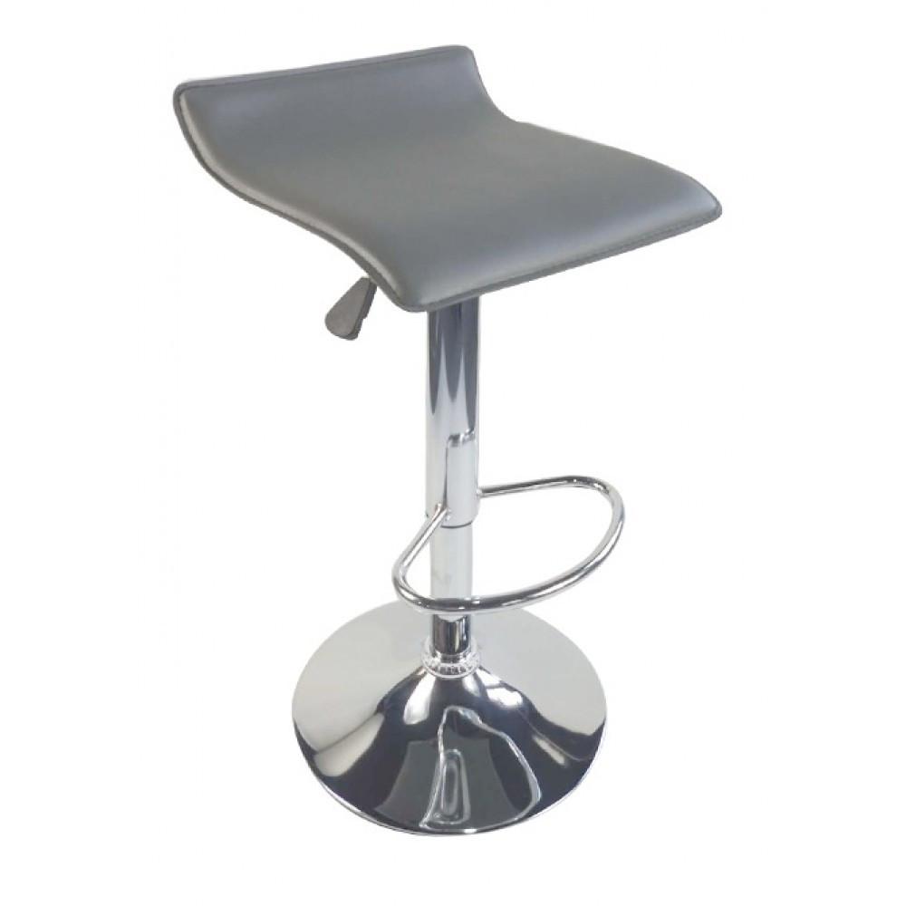 Барный стул хокер металический с нагрузкой до 120 кг мягкий с плавной регулировкой высоты сиденья серый