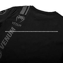 Футболка Venum Logos T shirt Black Black, фото 3