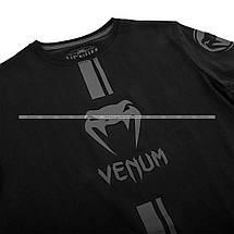 Футболка Venum Logos T shirt Black Black, фото 2