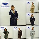 Детский Халат Для Мальчика Бамбуковый Bellezza By Ebru Турция Серого Цвета С Вышивкой, фото 2
