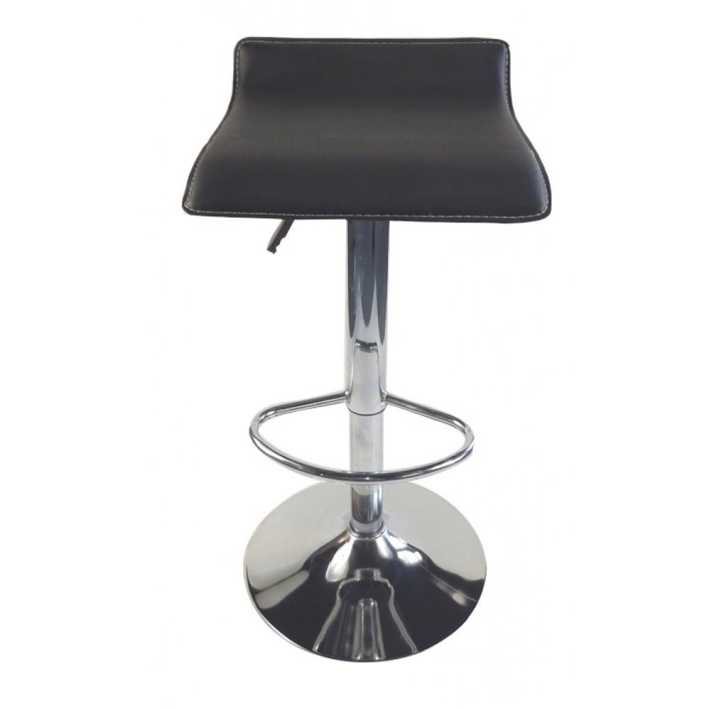 Барный стул хокер металический с нагрузкой до 120 кг мягкий с плавной регулировкой высоты сиденья черный