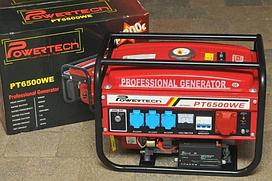 Генератор трехфазный с стартером 4,5 Кв Powertech PT6500WE