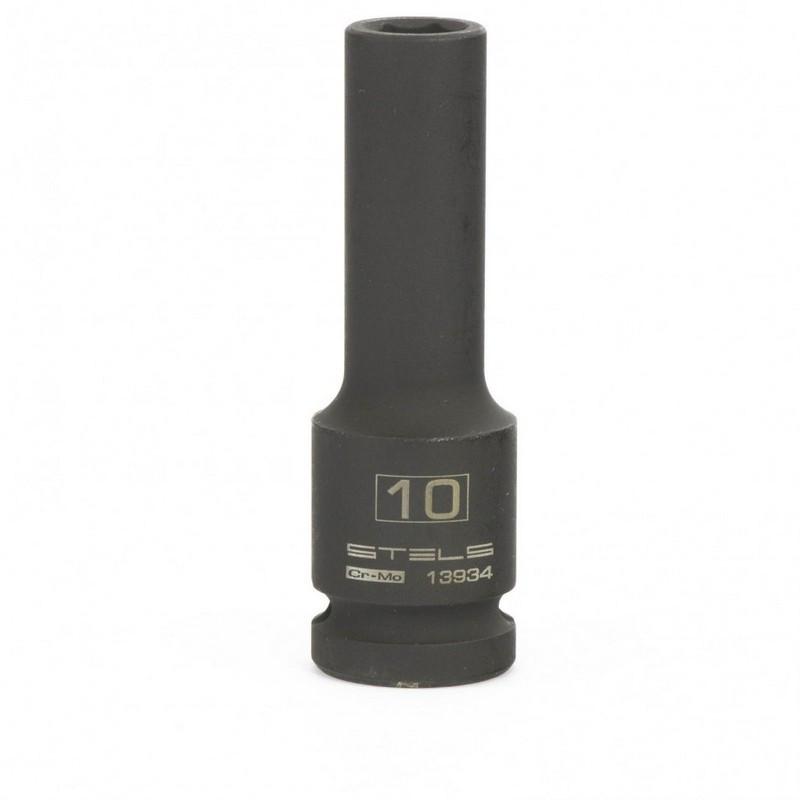 Головка ударная удлиненная шестигранная  10 мм  1/2, CrMo Stels 13934