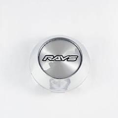 Колпачок в легкосплавные диски Rays конус/хром (59-65 мм)