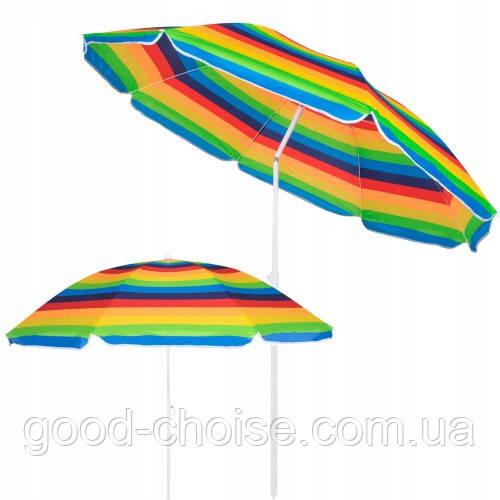 """Пляжный зонт с наклоном 2,5 м Anti-UF / Зонтик пляжный 2,5 метра """"ромашка"""" наклон"""