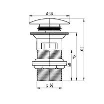 Донний клапан IMPRESE GRAFIKY ZMK041807500 чорний нікель, фото 2