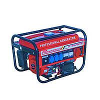 Генератор бензиновий трифазний зі стартером 4.5 Кв Powertech PT6500WE