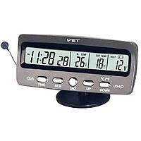 Автомобильные часы с термометром VST 7045 Gray