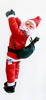 Фігура Діда Мороза (Санта Клауса) 90 см на мотузці, на драбині