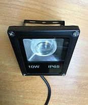 Светодиодный линзованый прожектор SL-10Lens 10W зеленый IP65 Slim Код.59142, фото 2